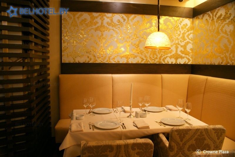 Гостиницы Белоруссии Беларуси - отель Кроун Плаза Минск / Crowne Plaza Minsk - Ресторан, кафе, бар
