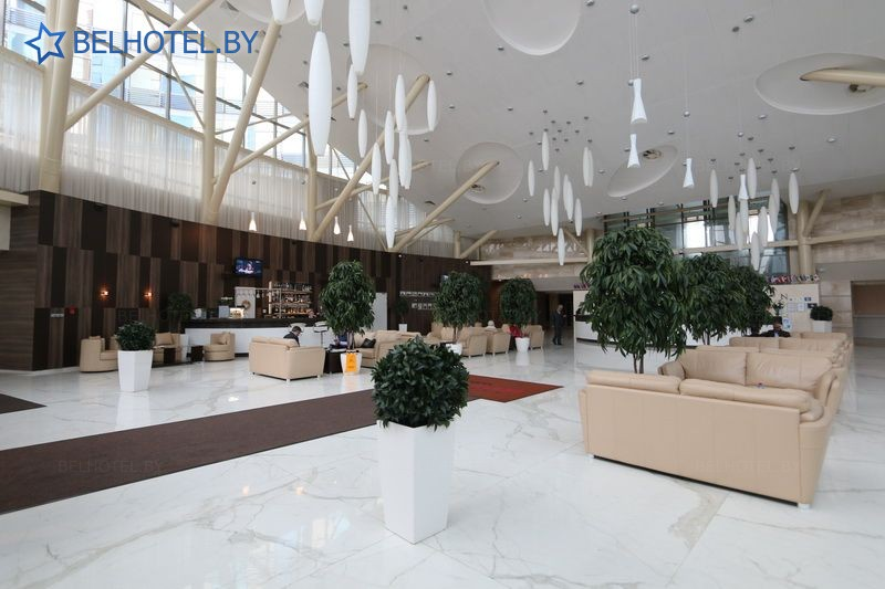 Гостиницы Белоруссии Беларуси - гостиница Виктория Олимп - Регистратура, холл